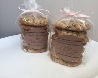 Homemade Old Fashioned Chocolate Chip Oatmeal Cookies -Chocolate Chip Oatmeal - Oatmeal Chocolate Chip Oatmeal Cookies - 1 dozen