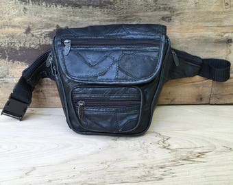 90s Leather Fanny Packck