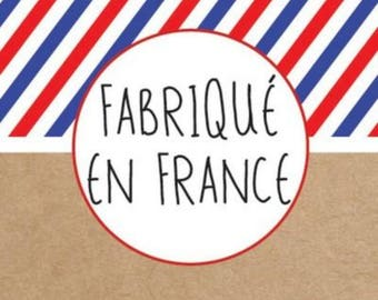 """Stickers """"Made in France"""" 3.5 cm * 3.5 cm square"""