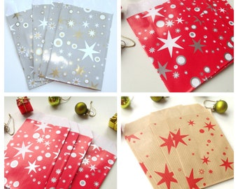 10 pockets 7 cm * 12 cm Kraft Christmas gift bags