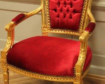 Baroque Chair Armlehner Chair AlSa0315SeGoRd