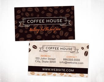 Premade Business Card Design • Coffee Beans