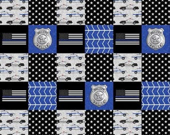Police toddler bedding boy | Etsy