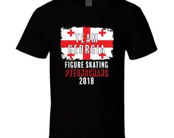 Team Georgia Figure Skating Pyeongchang 2018 Olympic T Shirt