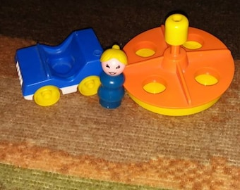Lot of three fisher price little people items