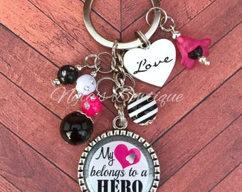 Military Wife Keychain, Military Spouse Gift