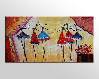Ballet Dancer Painting, Oil Painting, Canvas Art, Large Art, Oil Painting, Wall Art, Abstract Art, Original Painting, Abstract Painting