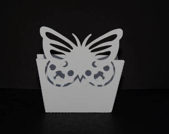 Butterfly - open Butterfly theme candle box