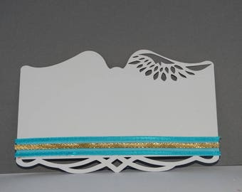 Angel wing table number card