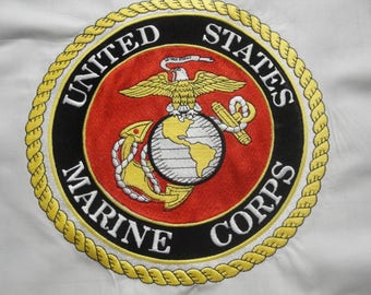 US Marine Corps Emblem-Machine Embroidered-15 in