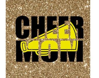 Cheer Mom Knockout Megaphone SVG file instant download digital file cricut cameo