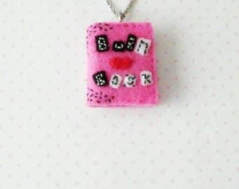 Burn Book necklace, mean girls, felt material