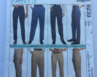 McCalls Palmer Pletsch Perfect Fit Pants, 9233 Size 16, uncut