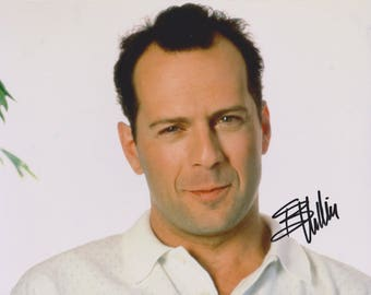 Bruce Willis Original Vintage Hand Signed 8X10 Autograph Photo