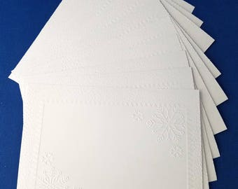 Recollection cardstock etsy 10 snowflake frame embossed a2 card fronts recollections cardstock scrapbook paper craft pronofoot35fo Gallery