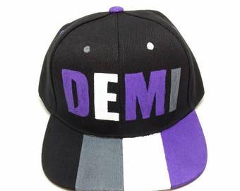 Demisexual Demi LGBTQA+ Pride Snapback Hat Demisexual Hat Asexual Hat Demisexual Pride Queer Pride LGBT Asexual Pride Gay Lesbian Bisexual