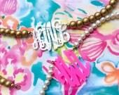 Custom Acrylic Monogram Necklace
