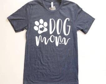 dog mom women's graphic t-shirt, dog pet lover tee