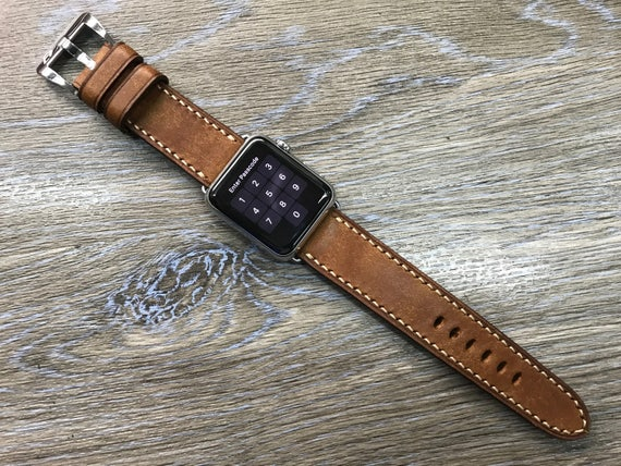 Apple Watch Band, Apple Watch 38mm, Caramel, Leather Watch Band, Leather Watch strap, Apple watch 42mm, iwatch, watch band, Free Shipping