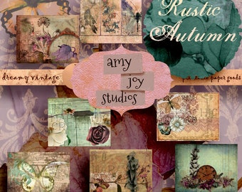 RUSTIC AUTUMN  Fall Colors  Printable Journal Kit  Ephemera Vintage  Junk Journal Paper  Autumn Journal  Fall Journaling  Digital Journal