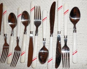 Vintage Diner-look Silverware Melamine MelmacFlatware