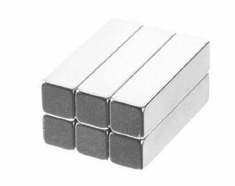 1 x 1/4 x 1/4 Inch Neodymium Rare Earth Bar Magnets N48 (6 Pack)