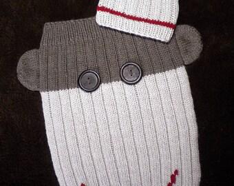 Sock Monkey Sleep Sack and Hat