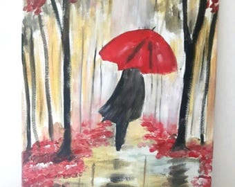 Crimson, Oil painting, Artwork on canvas, Home Decor, Wall art, Art by Artworkbychristina