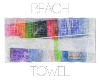 Original Gym Towel, Abstract Art Print, Large Towels, Beach Towel Art, Multicolor Bath Towel