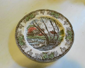 Johnson Bros Friendly Village Willow by the River, set of 4 salad plates