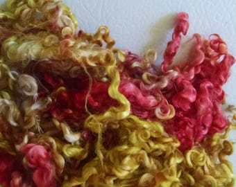 Kid Mohair Locks - Hand Dyed Locks - Doll Hair - Spinning - Troll Hair - Felting - Spinning - Doll Making - Wool Locks - Locks - Lockspun