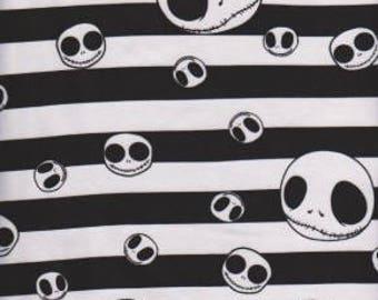 Jack Stripe black white  Cotton lycra knit fabric