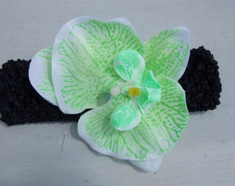 Headband green Orchid