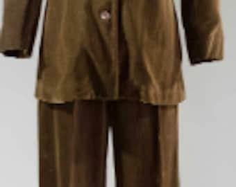 Vintage Halston Sportswear Corduroy Pant Suit