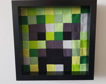 Minecraft Inspired Wall Art | Creeper Wall Art
