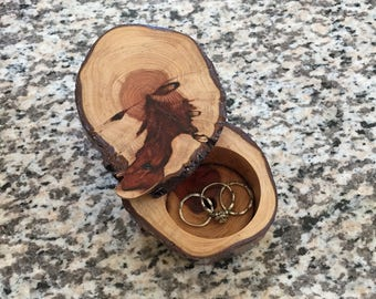 Redwood Ring Box Large