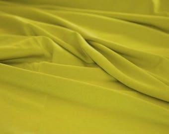 Olive - C-Pauli Solid - Organic Cotton Double knit UK Seller