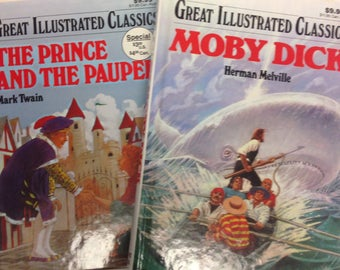 Moby Dick    And                                        The Prince and The Pauper