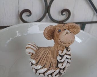 Ceramic Sheep Figurine