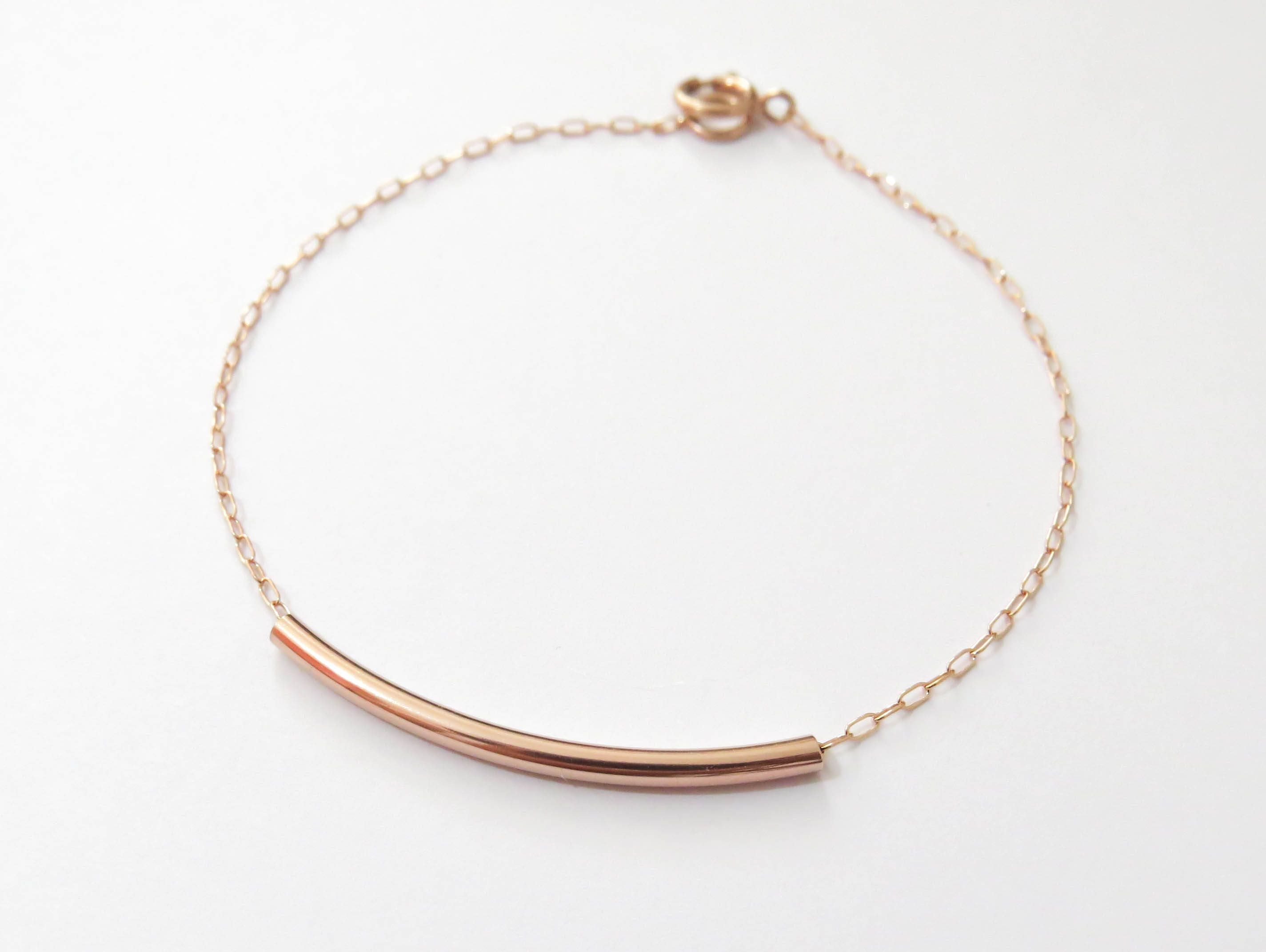 solid s bracelet by ellynbluejewelry link on pin etsy chain gold dainty
