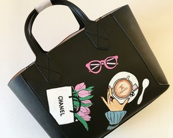 Hand-painted mini handbag crossbody