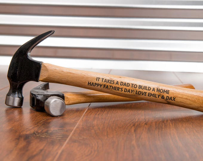 Personalized Hammer, Father's Day Gift Idea, Engraved Hammer, Daddy Gift, Best Dad Ever, #1 Dad, Papa Gift, Pawpa, Grandpa Gift