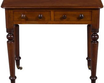 Victorian Period Antique Side Table With Drawers