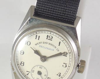 Original VINTAGE West End Watch Secundus Hand Winding Swiss Made Running Watch#Ew-382
