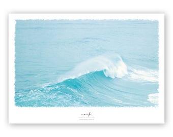 Print, poster, surf, surfing poster, poster surf, small poster, wave poster, print of waves, poster with waves, poster for surfer, surf dude