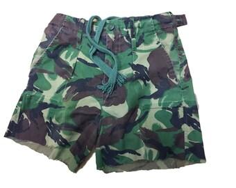 Ladies Re-Made Shorts, Hot Pants, Uk DPM  Pattern