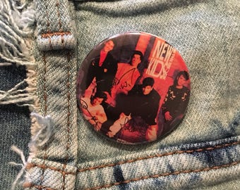 new kids on the block pin, step by step, 1.5 inch pin back button, 37 mm pinback button