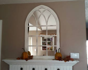 "37"" Tall Canterbury Cathedral Window Mirror"
