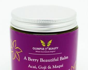 Berry Beauty Balm acai berry oil, goji berry oil, maqui berry oil