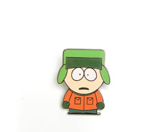 South Park, South Park pins, South Park Kyle, 90s cartoon pins, cartoon lapel pin, enamel pin, lapel pin